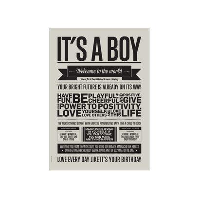 A5 Kaart - Its a boy