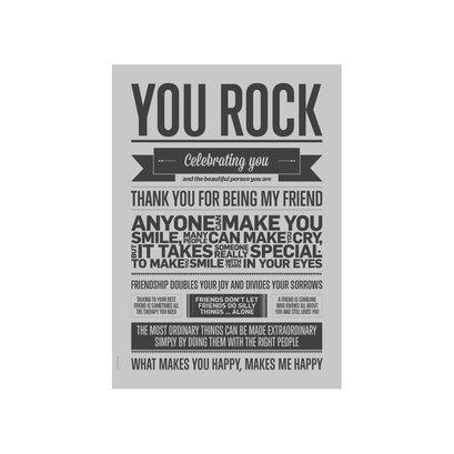 A5 Kaart - You Rock