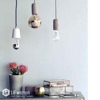 Betonnen hanglamp