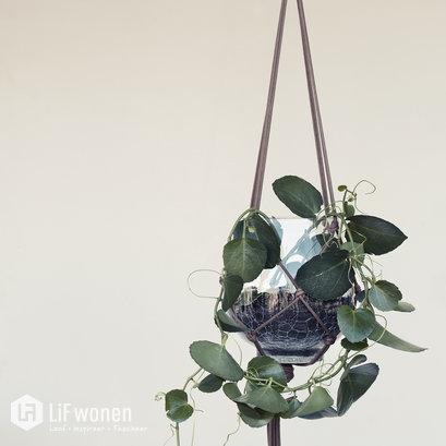 broste-hangende-bloempot-leer-glas