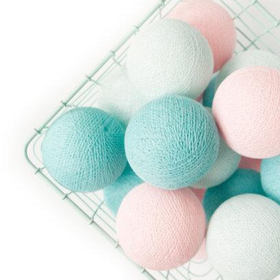 Cottonball lights lichtroze mint