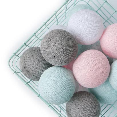 Cottonball lights soft mint-pink M