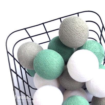 Cottonballls zeegroen wit stone