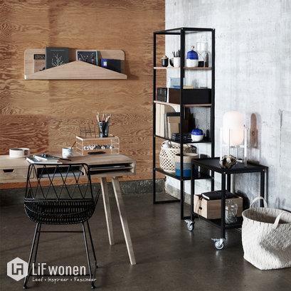 Design tijdschriftenrek eikenhout Hubsch