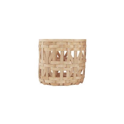 Gevlochten houten mand House Doctor M