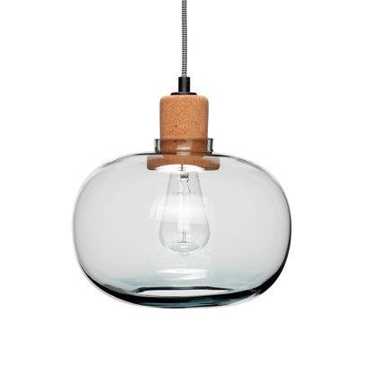 Glazen hanglamp met kurk