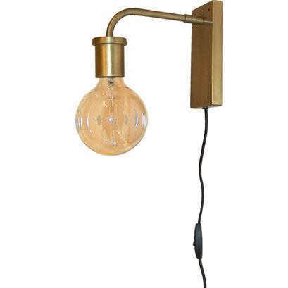 Goudkleurige wandlamp Trademark Living