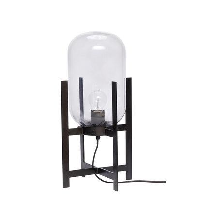 grote glazen tafellamp