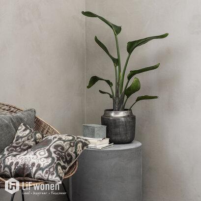 house doctor plantenbak bloempot zilver heylo
