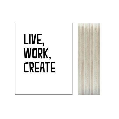 Houten blok live work create