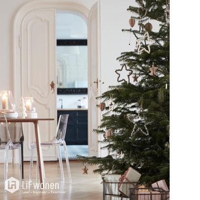 houten kerstboomversiering