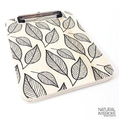 Houten klembord bladprint
