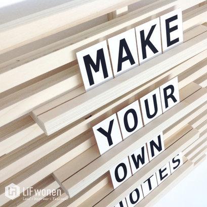 houten wandframe letterset