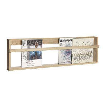 Hubsch houten tijdschriftenrek wandrek
