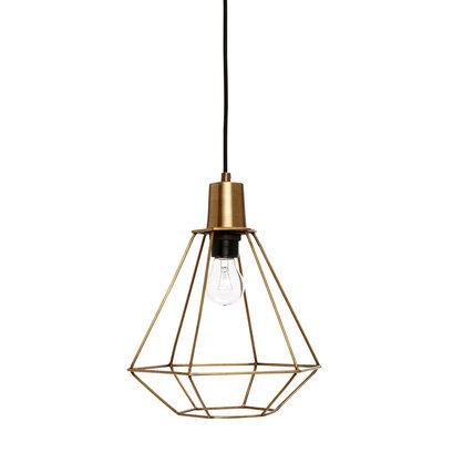 Hubsch Industriele Lamp messing