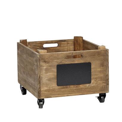 Hubsch Stoer houten kistje op wielen