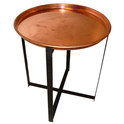 Industriele ronde tafel koper medium 2