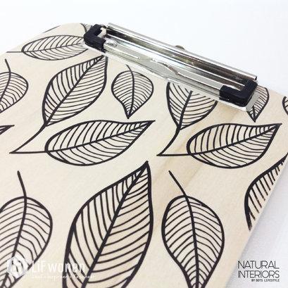 klembord met bladprint