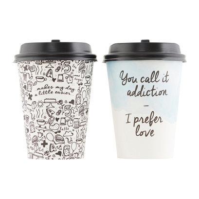 Koffiebeker met deksel