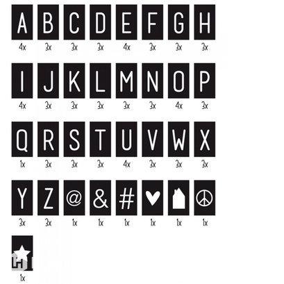 Letterset tekstbord DOTS