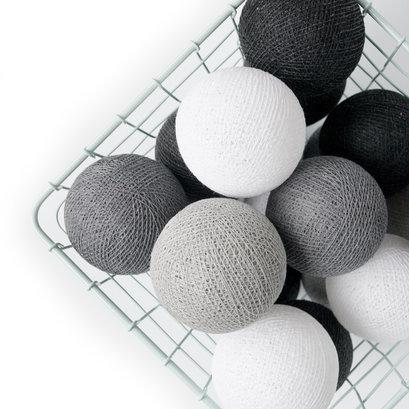 Lichtsnoer Cotton Ball Lights grijzen