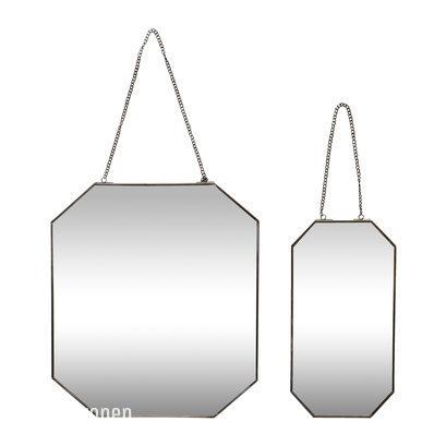 Metalen spiegel octagonaal