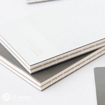 notitieboekje grijsgroen 13x18 monograph