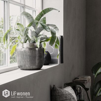 plantenbak groot zilver