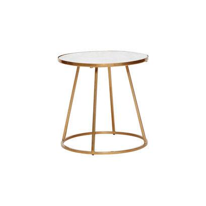 Ronde design salontafel wit goud marmer