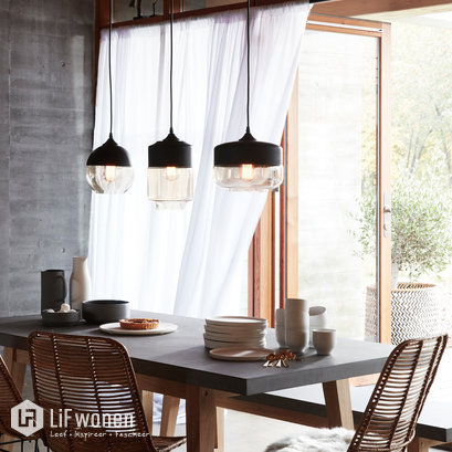 Set hanglampen matzwart