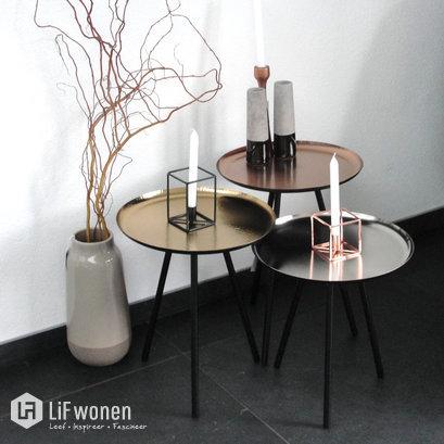 Set van drie tafeltjes