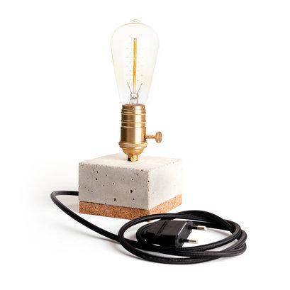 Tafellamp beton edison goud