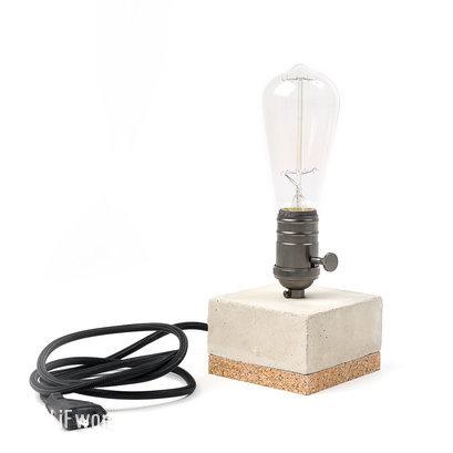 Tafellamp beton edison zwart