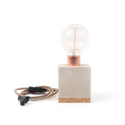 Tafellamp beton koper