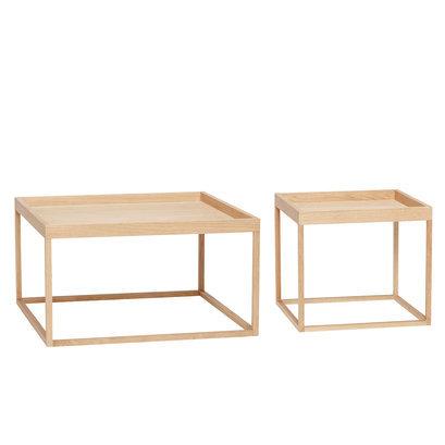 vierkante houten salontafels
