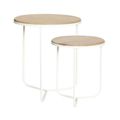 Witte ronde salontafels