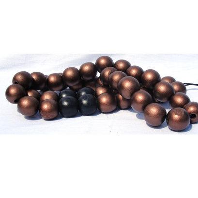 Woonketting brons zwart