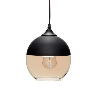 Zwarte ronde hanglamp Hubsch