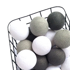 Cottonbals stone grey white